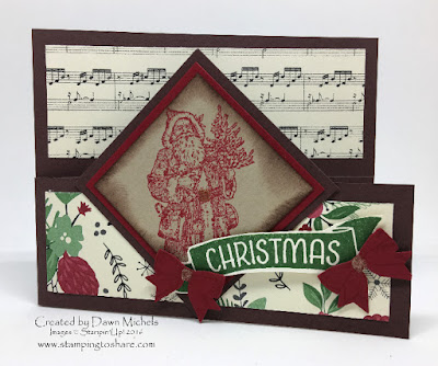 Dutch Style Door Card by Dawn Michels, Father Christmas, Holly Berry Happiness