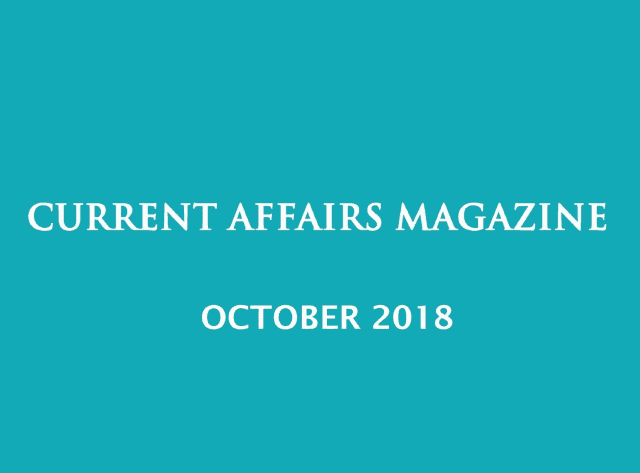 Current Affairs October 2018 iasparliament