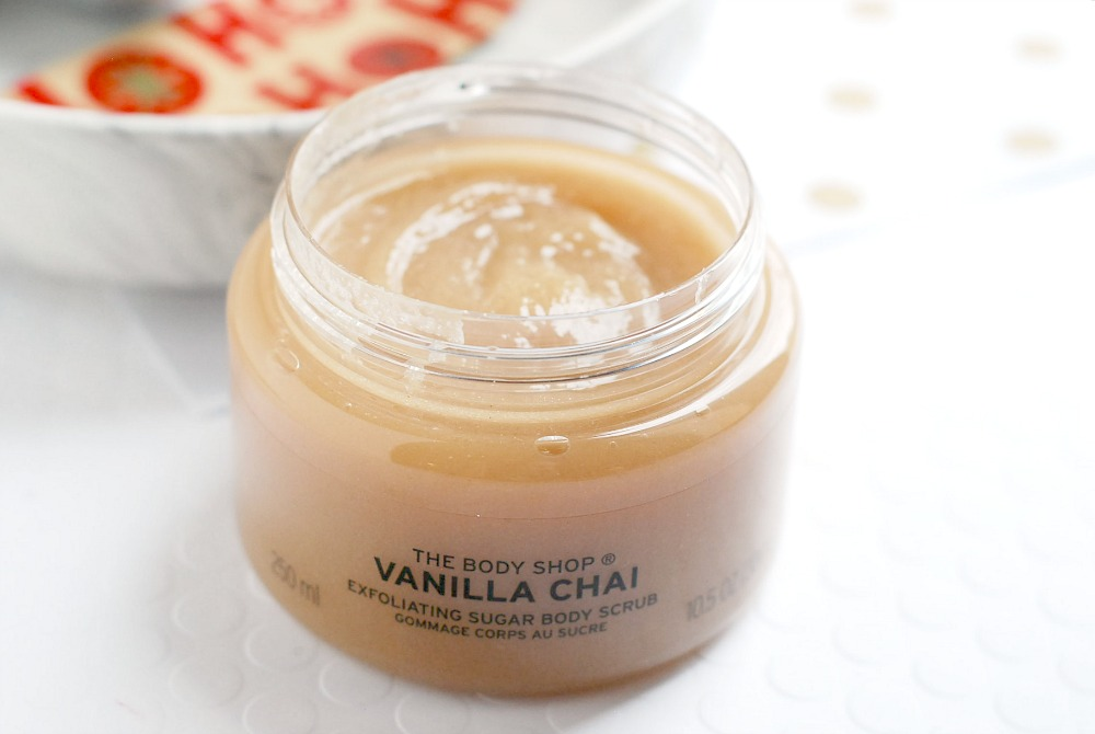 The Body Shop Vanilla Chai sugar scrub review