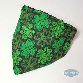 Lucky Irish Shamrocks St Patricks Day Dog Bandana