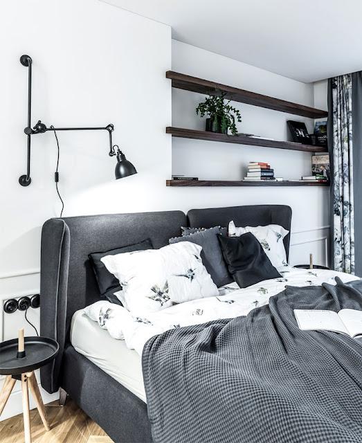 Эклектичная современная квартира в серых тонах