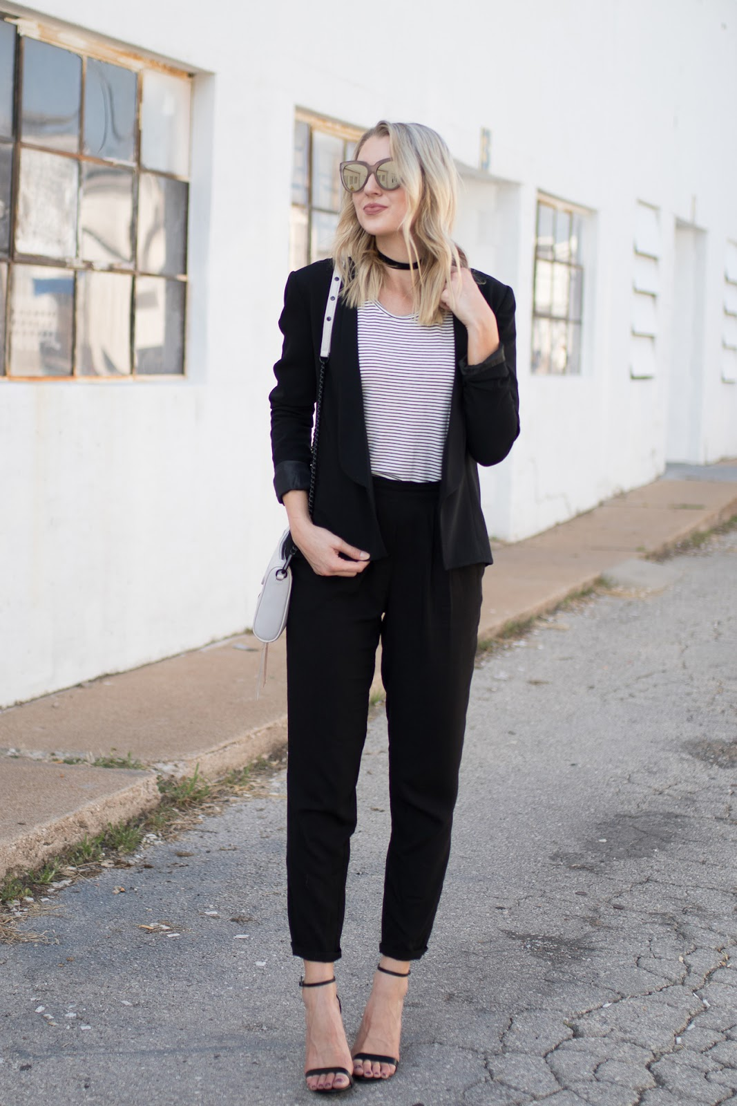 Black & white work outfit
