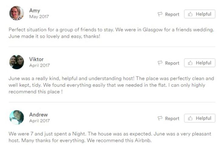 Tips 2 - Baca review mengenai homestay tersebut di AirBnb