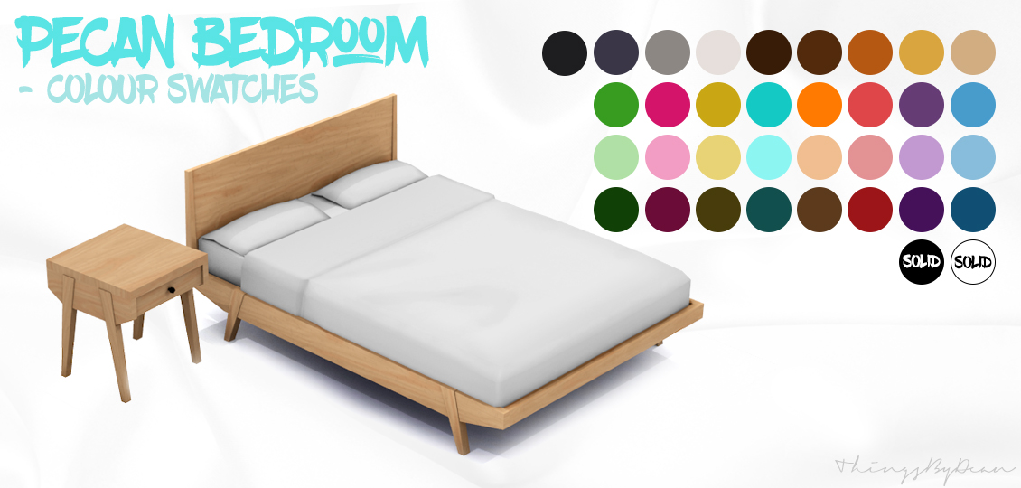 My Sims 4 Blog Pecan Bedroom Set By Dean