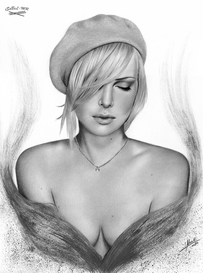 05-Charlize-Theron-Isabel-Morelli-iSaBeL-MR-Pencil-Black-Pastel-and-Charcoal-Portrait-Drawings-www-designstack-co