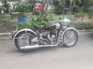 LAPAK MOTOR TUA DAN MOTOR ANTIK Forsale Norton 500cc Tahun 1938 tipe 16H , Call/WA 08155142969