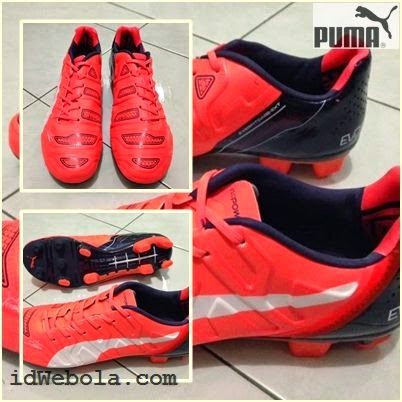 Sepatu Bola Puma Evopower II Orange