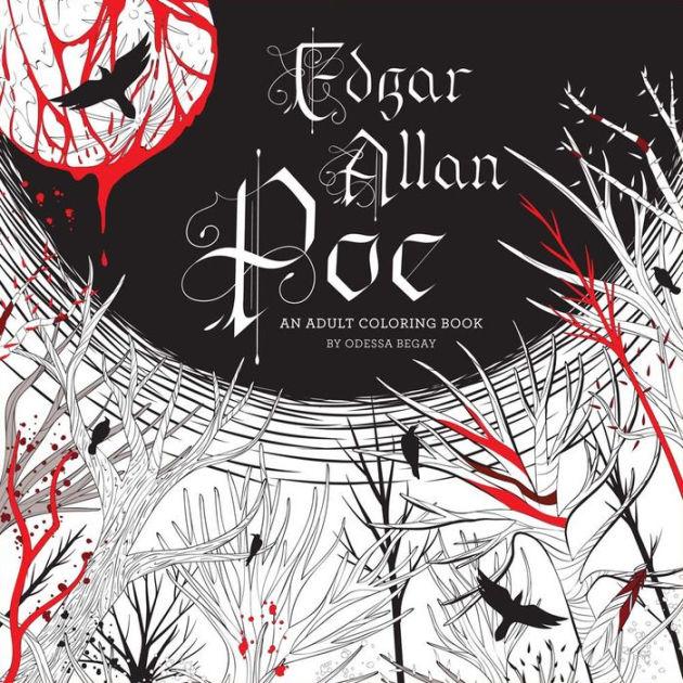 Edgar Allan Poe Adult Coloring Book