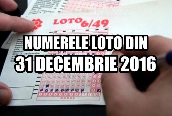 Numerele extrase la tragerile loto din 31 decembrie 2016