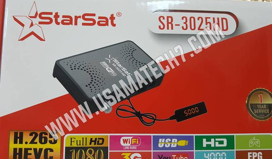 STARSAT SR-3025HD RECEIVER LATEST SOFTWARE 2019 - Usama Tech
