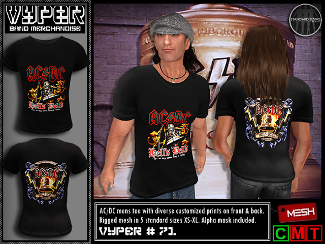 c62c1d953a Please click below vendors to buy directly at the SL Marketplace from  [VYPER] Band Merch. (See under Poster tab above the new AC/DC Whole lotta  Rosie band ...