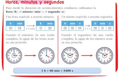 Resultado de imagen de horas minutos y segundos