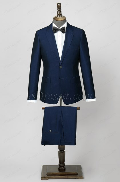 Navy Blue Custom Men Suits Classic Suits