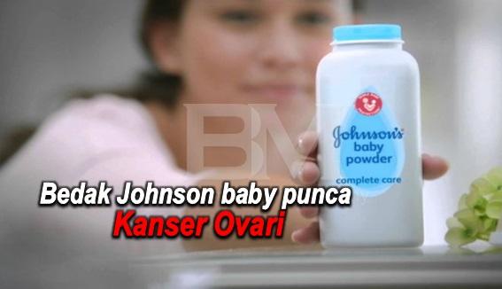 Bedak Johnson baby punca Kanser Ovari, Syarikat Johnson & Johnson diarah bayar saman 55.000.000 usd