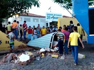 Segunda vítima de acidente atingida por muro de escola recebe alta no Maranhão, uma estudante morreu