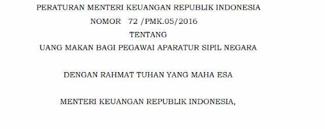 Guru PNS Di Madrasah Tidak Berhak Mendapatkan Uang Makan (PMA NO 72/PMK.05/2016)