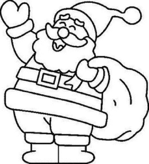 christmas santa claus coloring pages free printable - 931×768