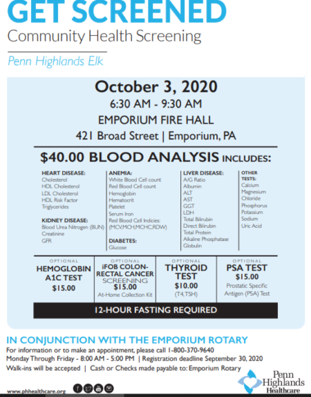10-3 Community Blood Screening Emporium