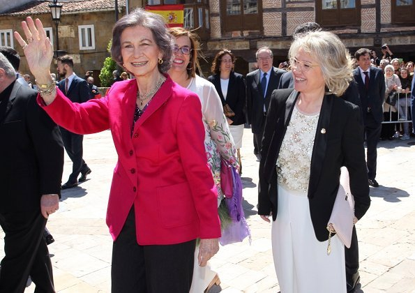 "Queen Sofia attended the opening of ""The Ages of Man: Mons Dei"" exhibition organized by Las Edades del Hombre Foundation in Aguilar de Campoo"