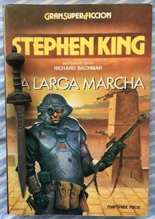 Portada del libro La larga marcha, de Stephen King