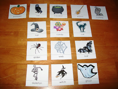 Halloween nomenclature cards