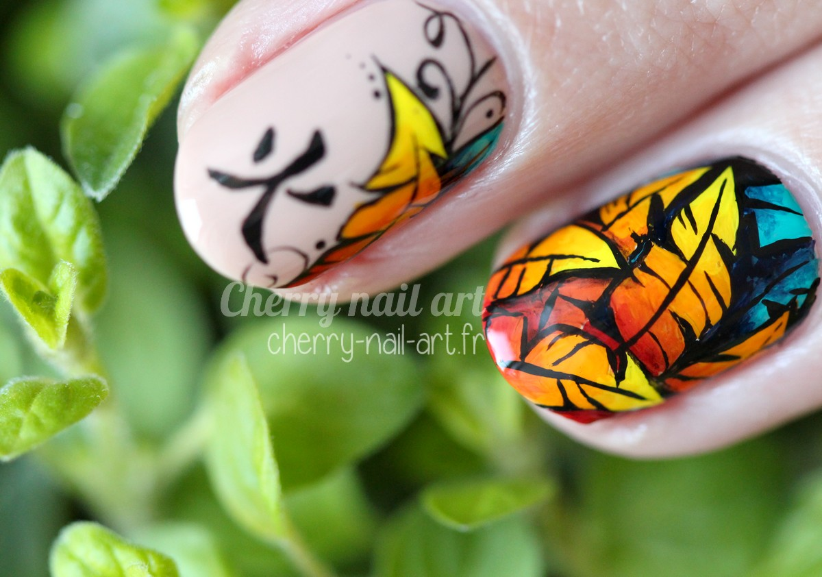 nail art coq