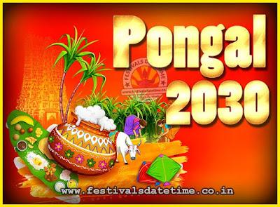 2030 Pongal Festival Date & Time, 2030 Thai Pongal Calendar