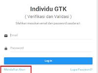 Cara Mudah Daftar dan Cetak Kartu Sistem Verval dan Individu GTK