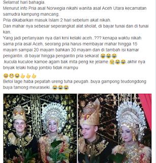 pernikahan viral di aceh