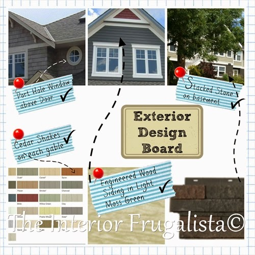 Exterior Renovation Design Board