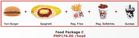 Jollibee party package C
