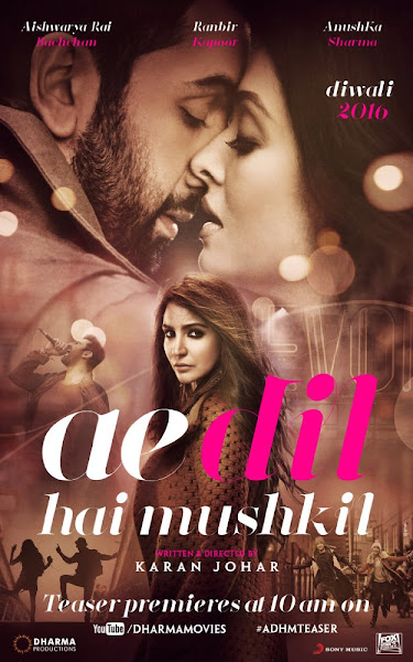 Poster Of Ae Dil Hai Mushkil 2016 480p Hindi DVDScr Full Movie Download