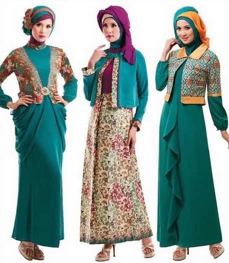 Desain baju muslim gamis brokat tren 2015