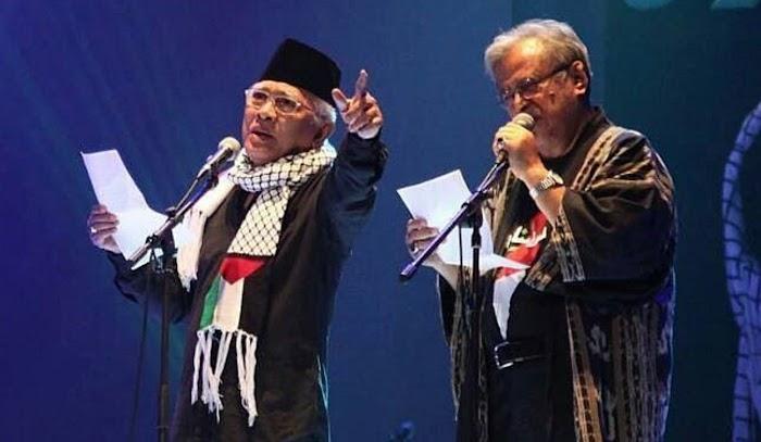 Gus Mus dan Sejumlah Tokoh Gelar Doa Untuk Palestina di Taman Ismail Marzuki