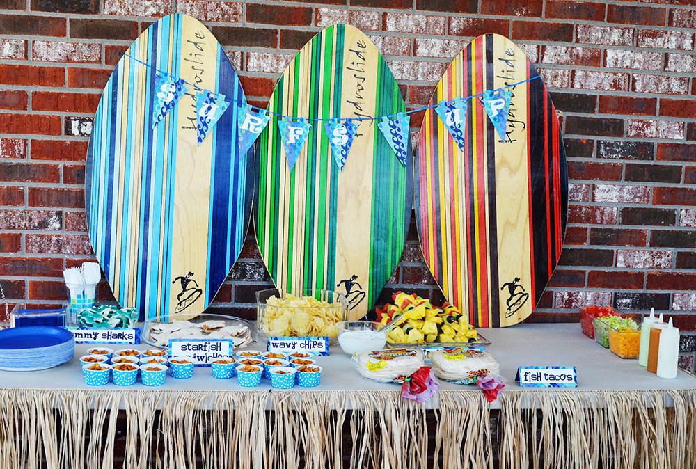 organizzare una festa a tema surf