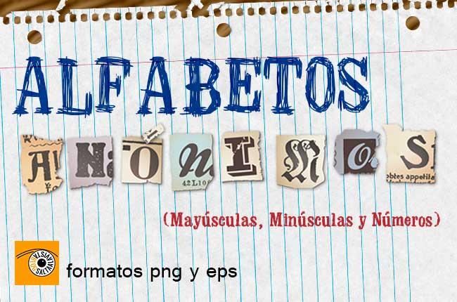 Alfabetos Anónimos en Formato Vectorial EPS y PNG by Saltaalavista Blog