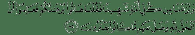 Surat Al Qashash ayat 75