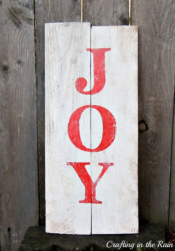 Painted Joy Sign Crafting In The Rain