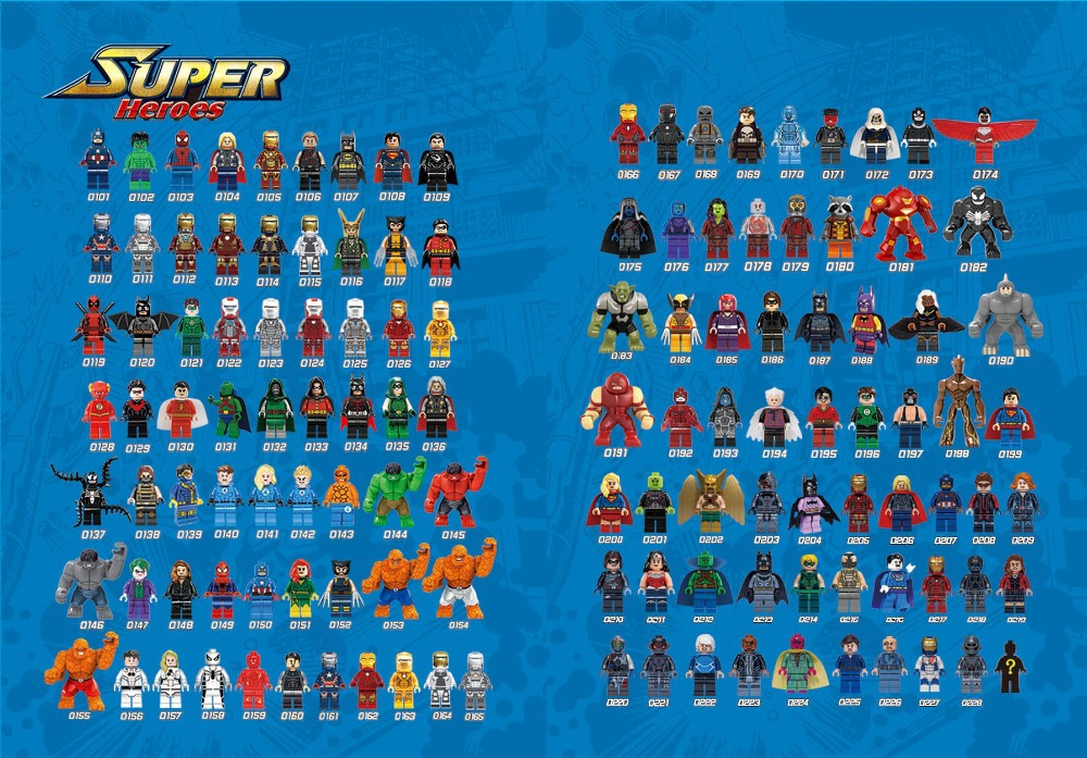 its not lego decool mini figures list