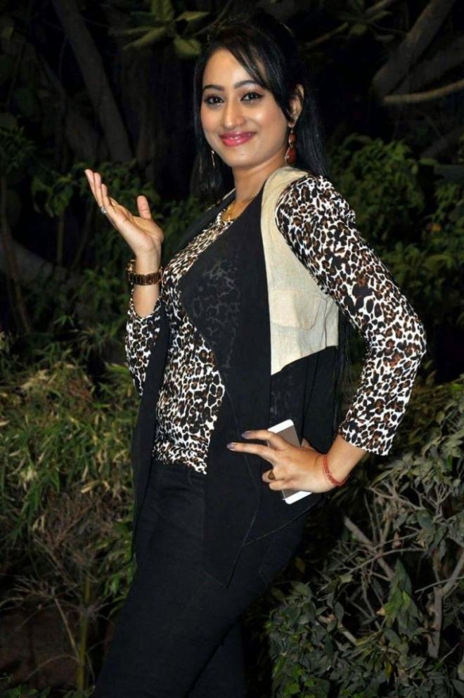 Tv Anchor Ashwini Sharma Stills At Movie Audio Launch In Black Dress
