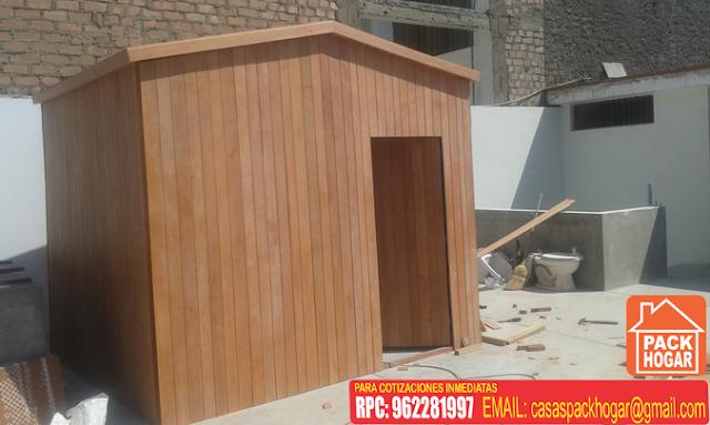 Casetas prefabricadas de madera para terrazas packhogar for Casetas para terrazas