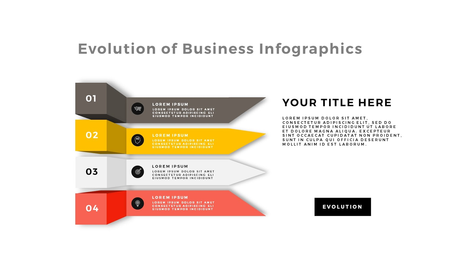 Evolution of business infographic powerpoint template infographicon evolution of business infographic free powerpoint template slide 1 toneelgroepblik Image collections