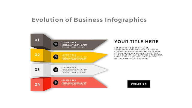 Evolution of Business Infographic Free PowerPoint Template Slide 1