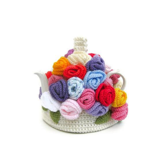 Teteras forradas de Crochet