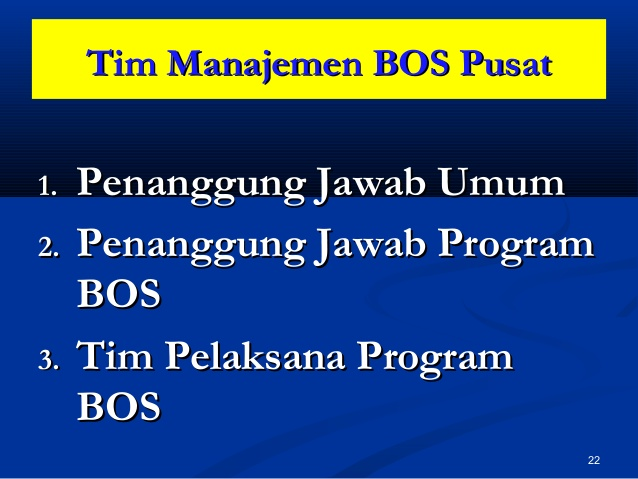 Tugas dan Tanggung Jawab Tim Manajemen BOS Sekolah