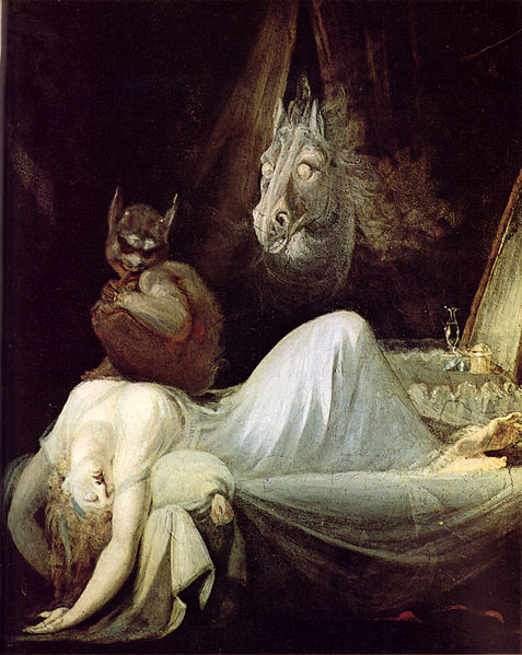 The Nightmare (1781) - Johann Heinrich Füssli, horror art