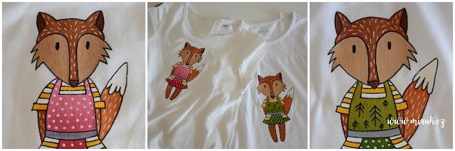 malované tričko liška