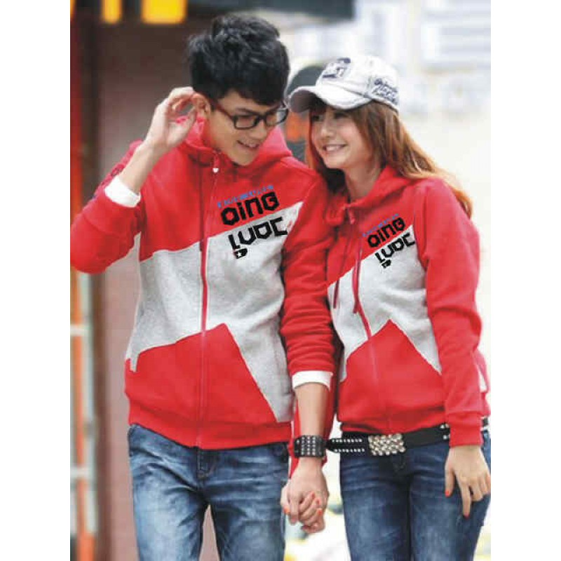 Jual Jacket Couple Jacket Qing Combination - 22334