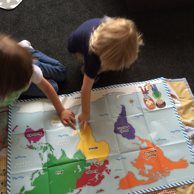 Little Passports review, world map