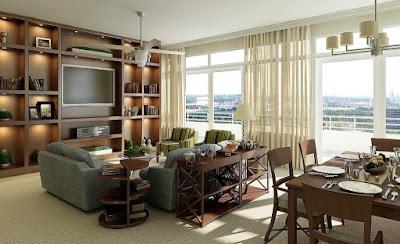 70 Desain Ruang Keluarga dan Ruang Makan Menyatu